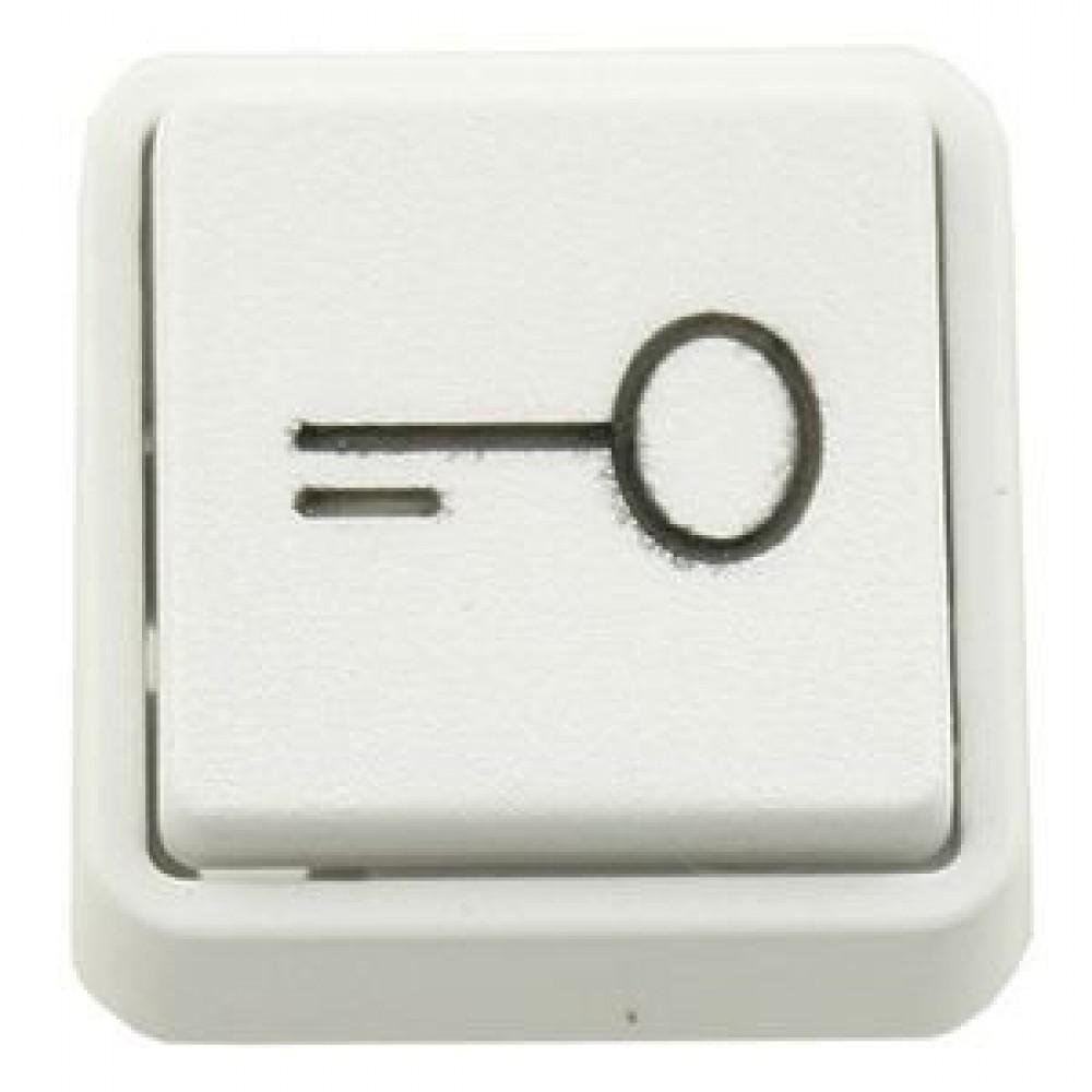 Udtryk mini m/nøglesymbol 25x25mm. Hvid