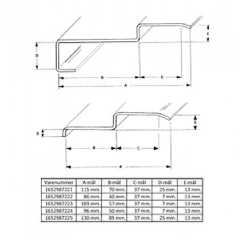 Lockit stålkarm 1315-5 (85x130x2200mm)