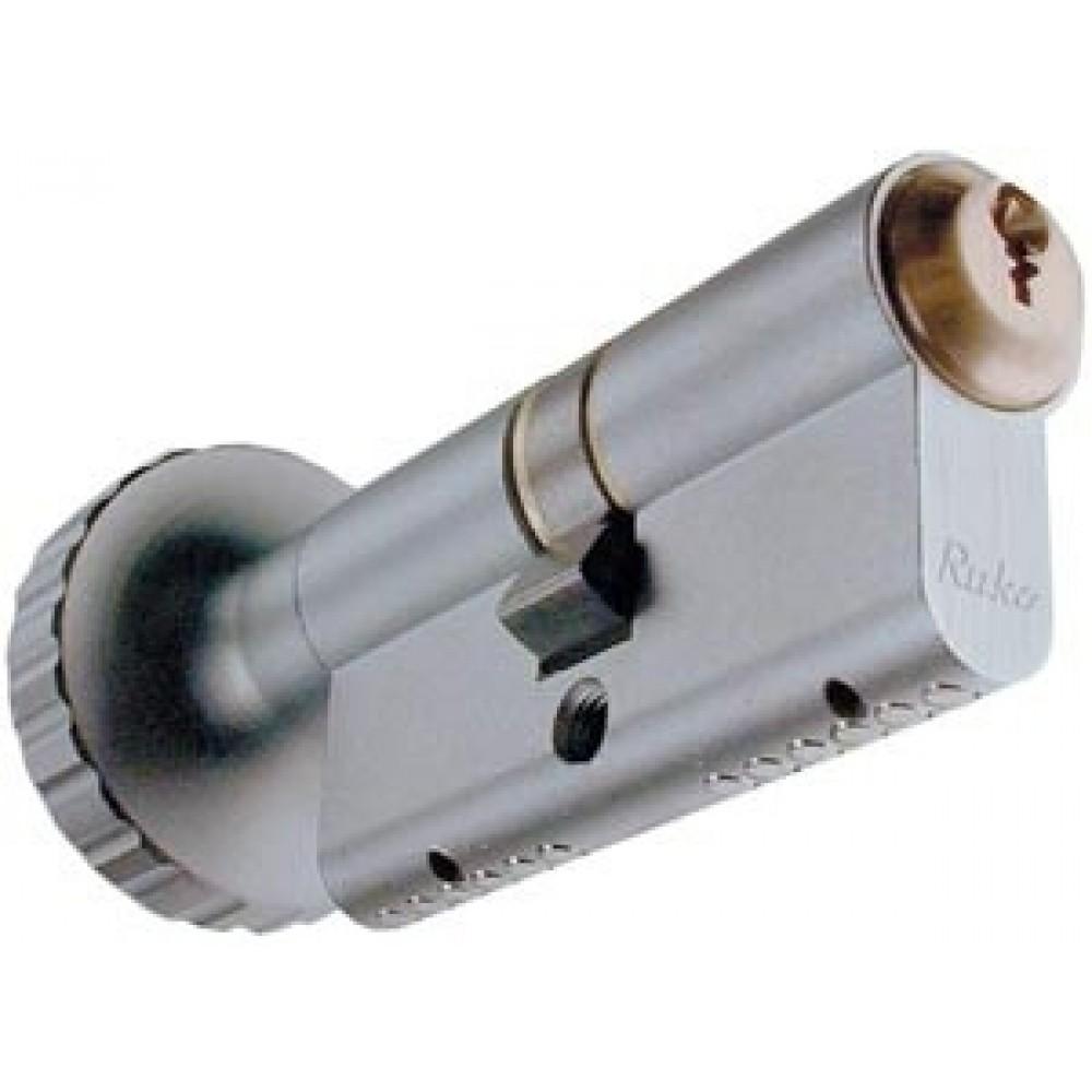 Ruko profilcylinder RG1602, Garant Plus m/stor knop og m/sikkerhedskort og nøgler