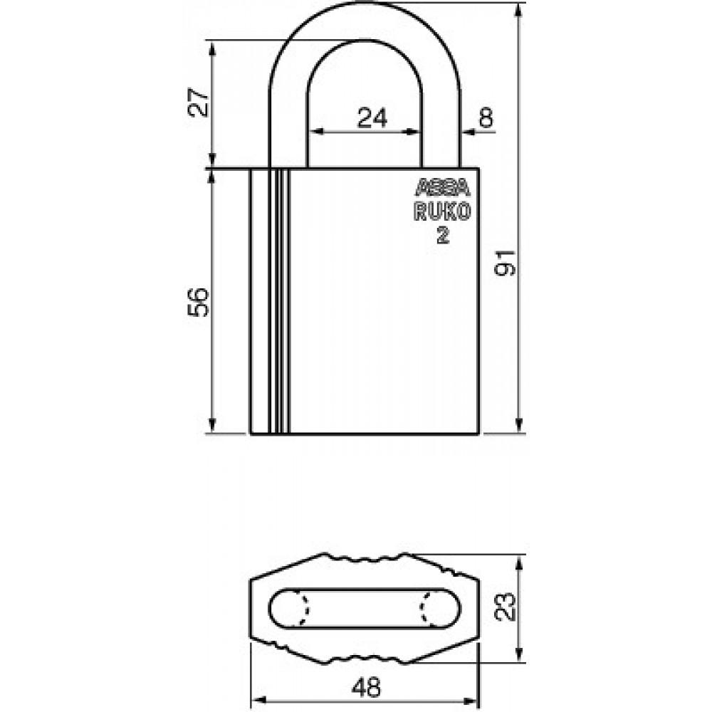 Ruko hængelås RG2641, Garant Plus u/sikkerhedskort og nøgle-01