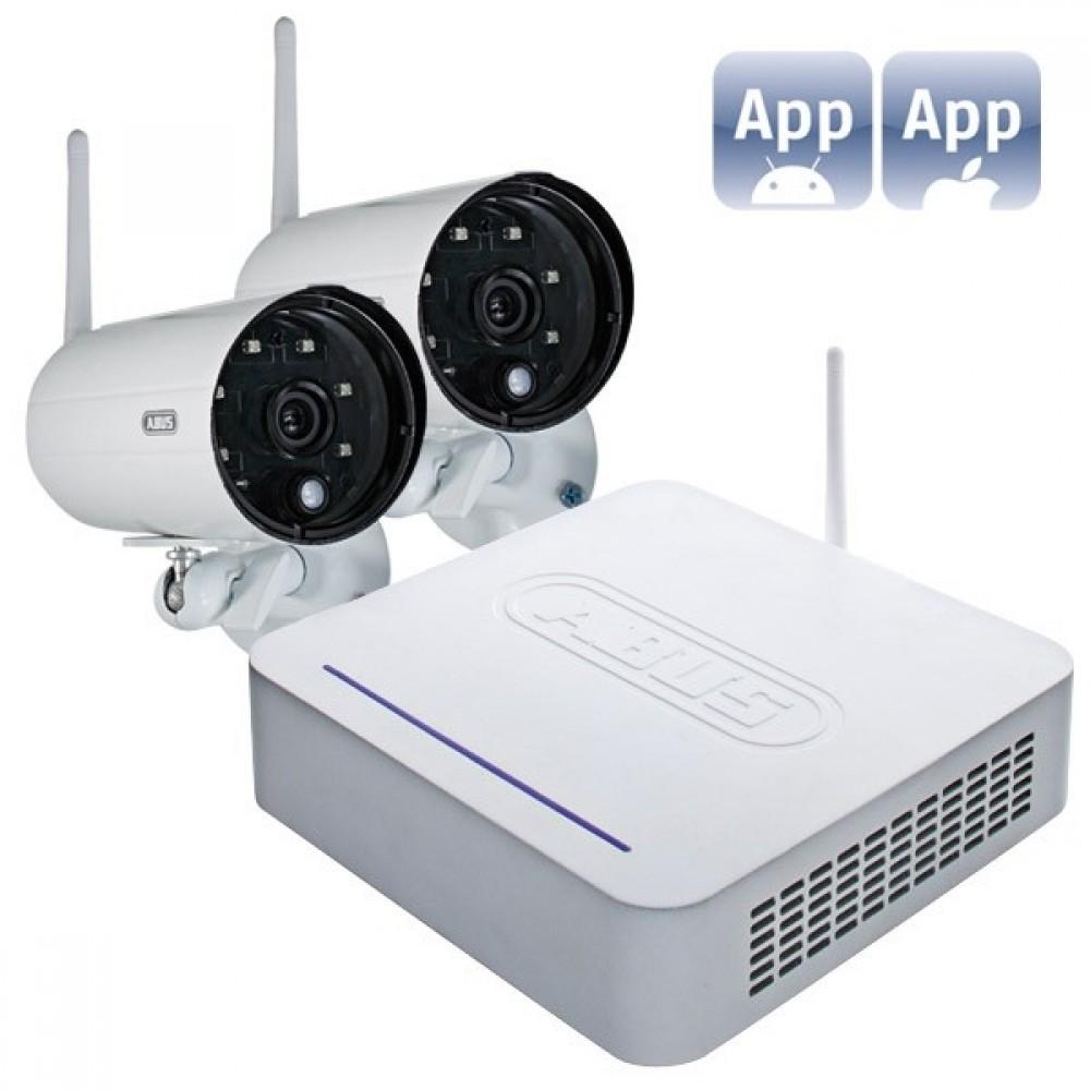 Trådløst overvågningssæt m/2 kameraer