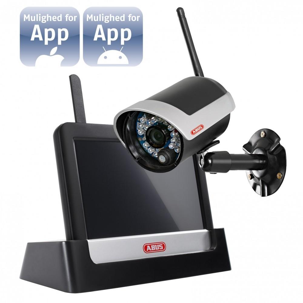 """7"""" touch screen, trådløst kamera og App"""