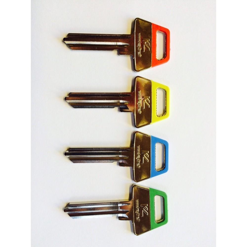 Farvede 6 stift nøgler (Ikke Skåret)