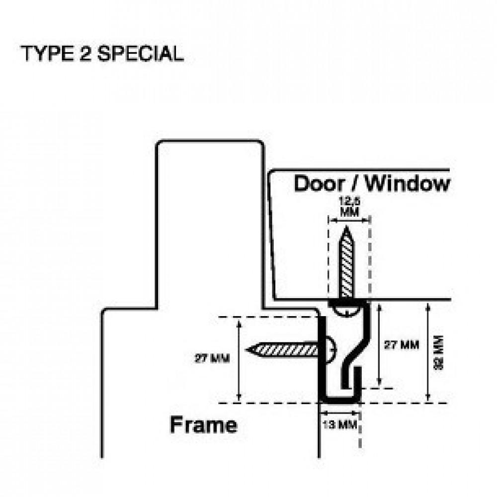 Secustrip hvid type 2