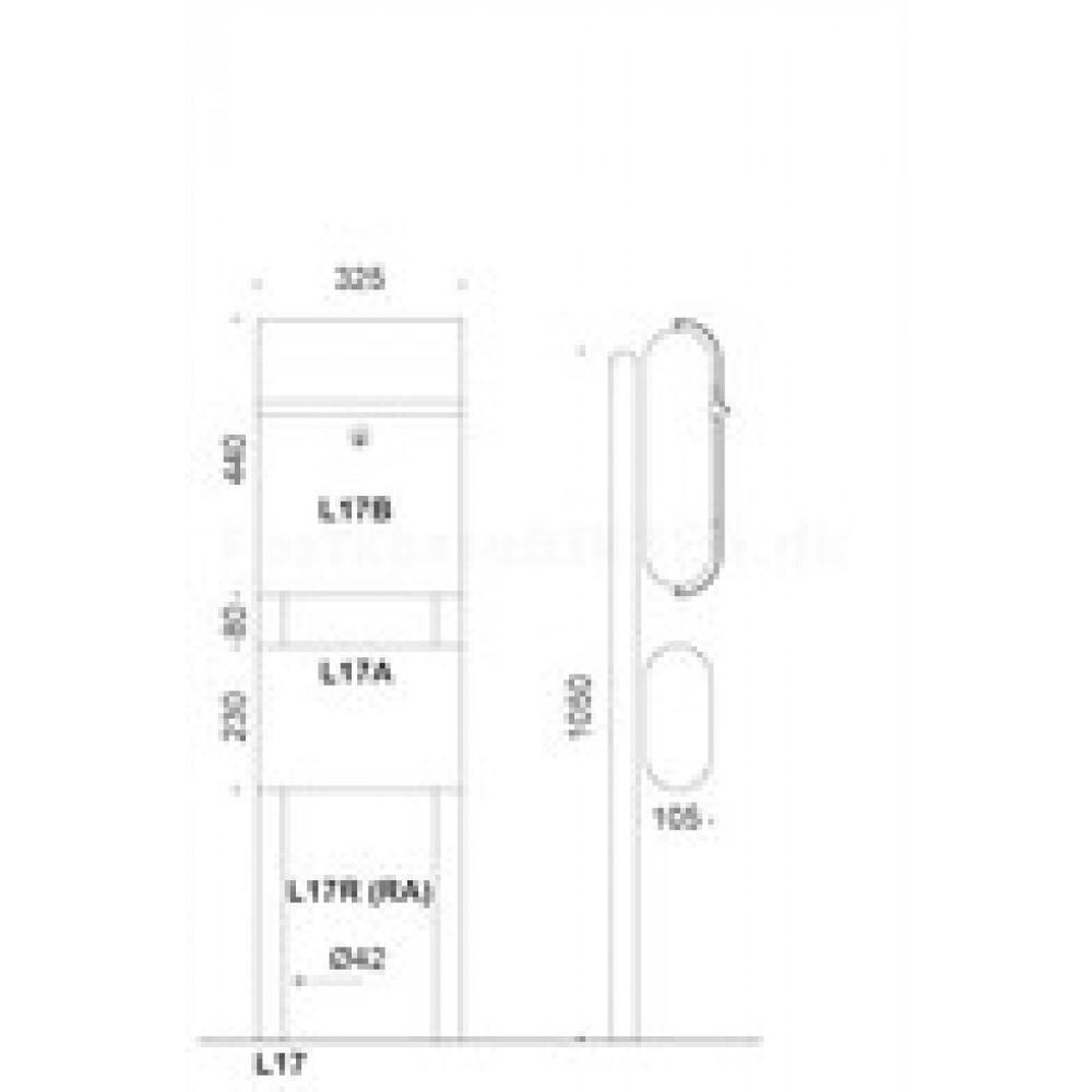 Rørstativ for Lampas postkasse model L17-03