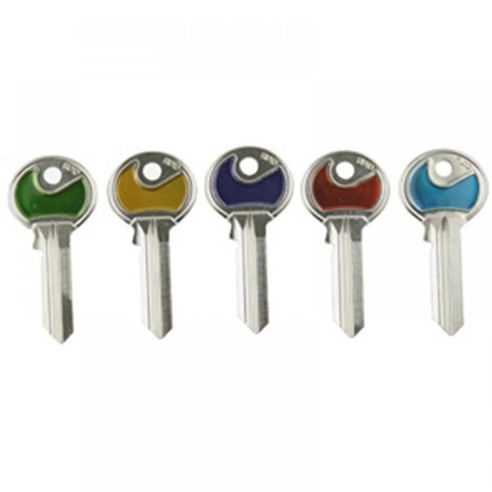 Farvede 5 stift nøgler (Ikke skåret)