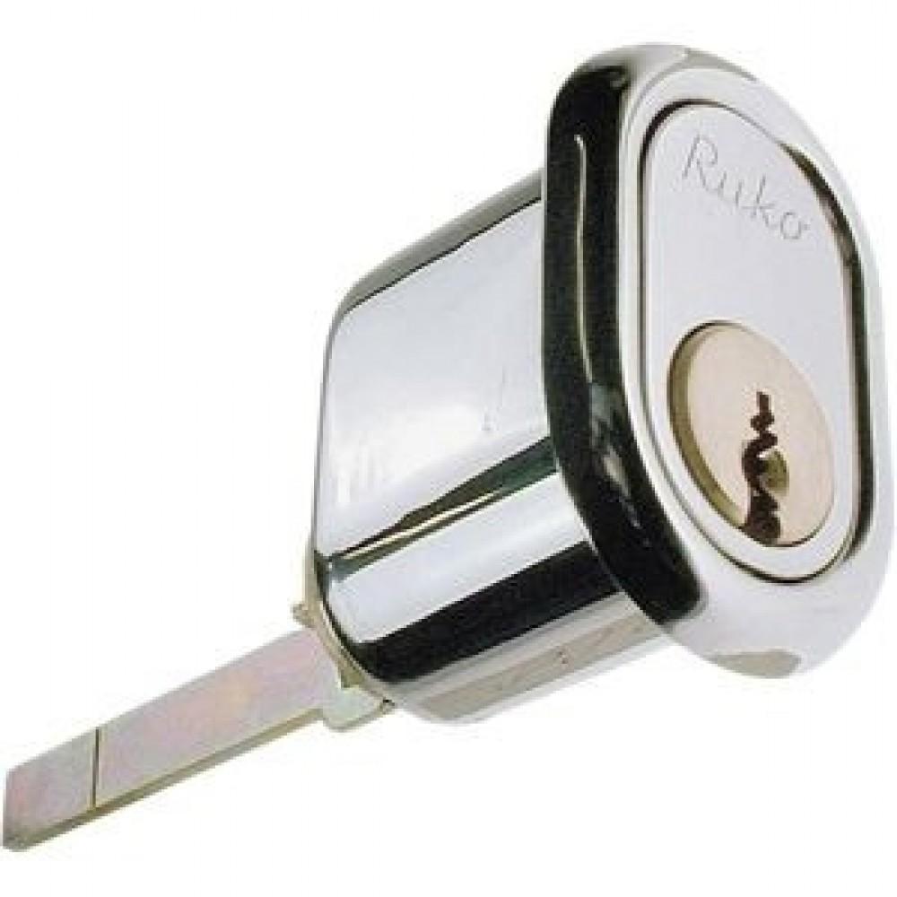 Ruko oval cylinder RG2601, Garant Plus m/sikkerhedskort og nøgler