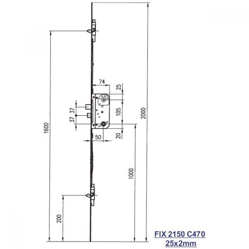 Fix stanglås 2150 C470-01