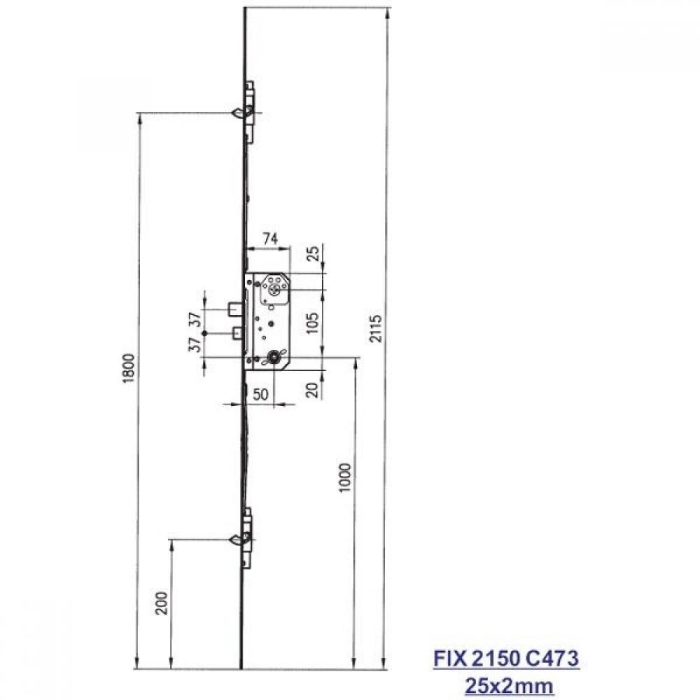Fix stanglås 2150 C473-01