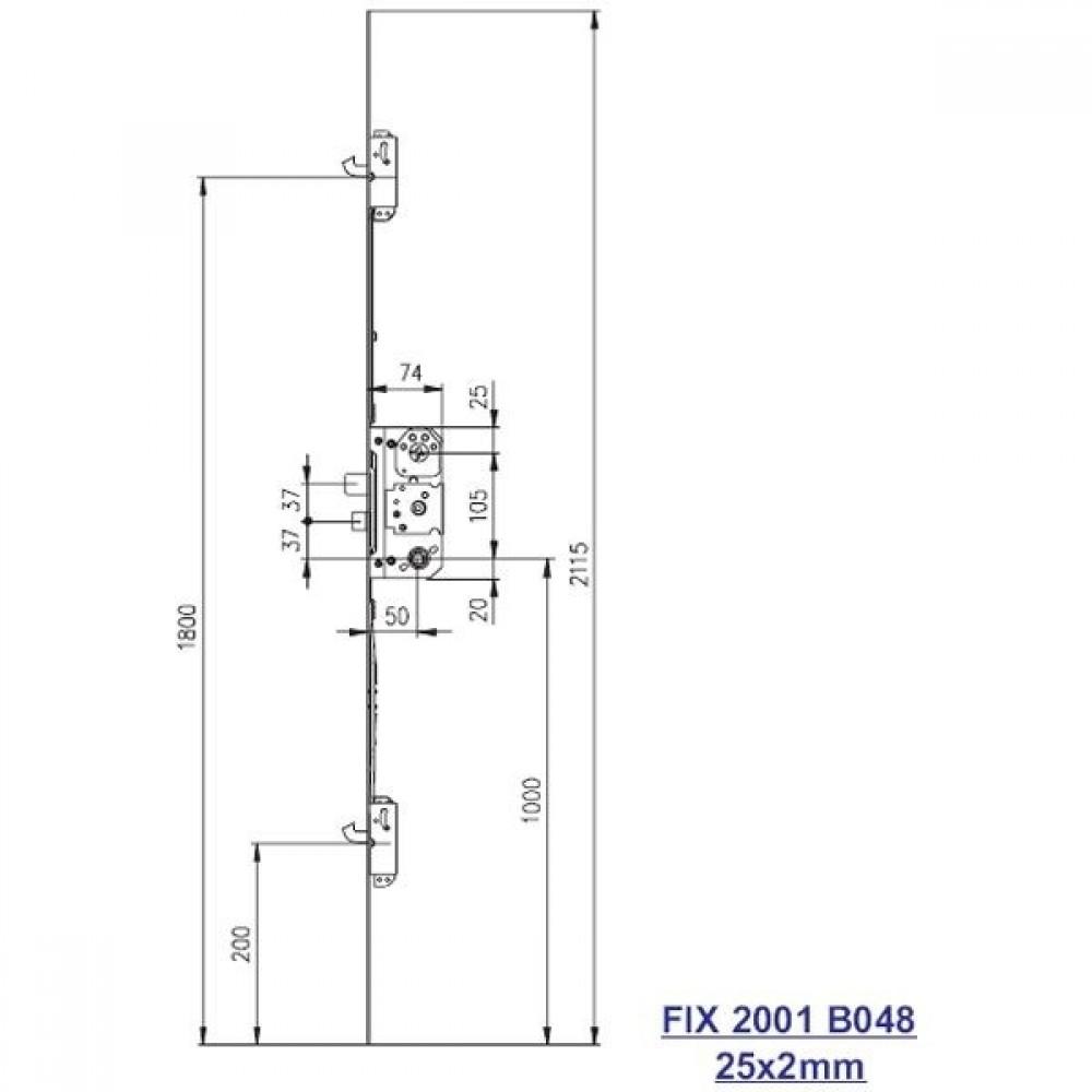 Fix stanglås 2001 B048 venstre-01