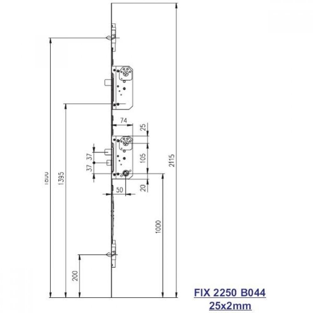 Fix stanglås 2250 B044-01