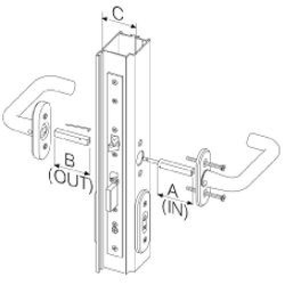 Abloy grebspind dørtykkelse 66-80 mm. til EL 580-31