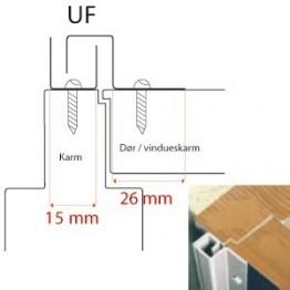 BG C-profil for udadg. falset døre, Brun-20