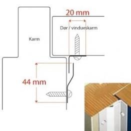 BG C-profil for indadg. døre, Hvid-20