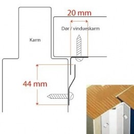 BG C-profil for indadg. døre, Rustfri-20
