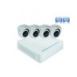 Analog pakke m/4 dome kameraer-20