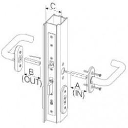 Abloy grebspind dørtykkelse 66-80 mm. til EL 580-20